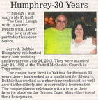 Jerry Humphrey - 20 Year Anniversary - Sept 2012 - Class of 1976