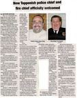 Adam Diaz ('86)- new Police Chief and Tim Smith ('78) - new Fire Chief - Dec 2008