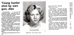 Raymond Young Obit - 1976