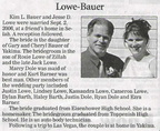 Jesse Lowe - Class of 1980 - wedding announcement Sept 2006