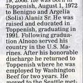 Alonzio Alaniz obituary - Oct 2008 - Class of 1991