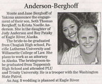Seth Berghoff engagement announcement - July 2008 - Class of 1998