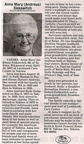 Anna (Andreas) Siekawitch obit - 2007. Class of 1935 ??