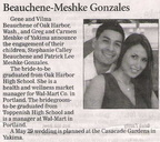 Patrick Lee Meshke Gonzales engagement announcement - May 2009 - unknown class year
