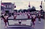 1974 Parade- Flag carriers, Drum majors(Scott Smith,Virgil Newman), Majorettes, band