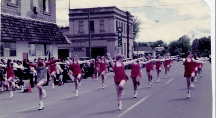 1974 Parade - Drill Team - Captain in grey is Donna Barcyszyn - someone else will have to ID the others!