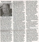 Ron Schmidt Obituary - May 2006