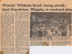 1963.1213 and 14 Wildcast sweep the weekend for two in a row   Toppenish Paper Article by Mike Thorp Class of 1964 Student