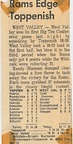1964.0104  Newspaper account of the Toppenish West Valley Game at West Valley High School January 4, 1964