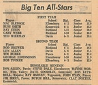 1964.0220 Big Ten All-Stars  Ray Harvey Honorable Mention