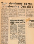1964.09 Cats Dominate Grizzlies 10-6 Toppenish Wins First Game