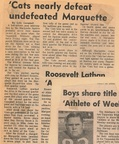 1964.10 Toppenish Cats nearly defeat undefeated Marquette Squires 19-14 Toppenish Score the first 14 Points