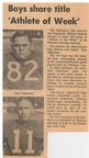 1964.1117  Article 2 Toppenish Sideliners Club Select Tom Halfmoon and Ray Harvey as Athlete of the Week after the Wapato Veterans Day Game