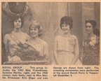 1964.1205 1963 Miss Friendliness Suzanne Martin, 1964 Joan Seely Princesses Kris Sliger and Lois George