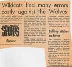 1965.04 Toppenish Baseball in two loses one to Wapato 6-5 and the Other was a no hitter to Ellensburg Bulldogs