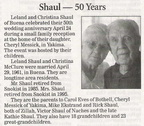 Leland Shaul - 50th anniversary - Class of 1939