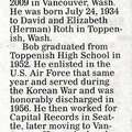 Bob Roth obituary - January 2008 - Class of 1952