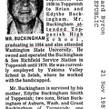 Edward Buckingham obit - Nov 1987