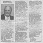 Richard (Dick) Gosney obituary March 2011Class of 1961