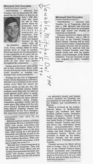 Mitch Venable Obit - 1990