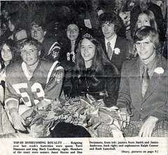 Homecoming - Fall 1973 Scott Smith/Janice Anderson