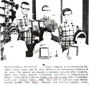 5th Grade Outstanding Students (1968) - Paula Lott/Carmen Polley