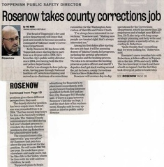 Kelly Rosenow ('75)-Toppenish Safety Director job change