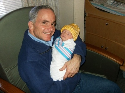 Tim Beavers ('75) - with first grandchild - Meca