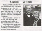 Will Scarlett - 25th Wedding Anniversary