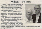 James Wilson and Sharon Seely Wilson anniversary